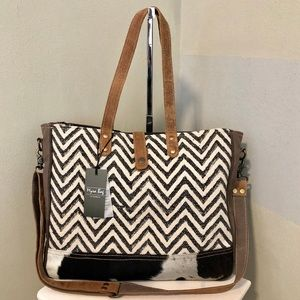 Handbags - Amber Messenger Up-cycled Canvas Shoulder Bag